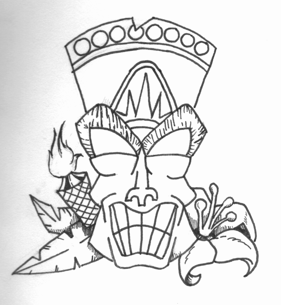 900x979 Tiki Coloring Pages Photos Tiki Mask Coloring Page