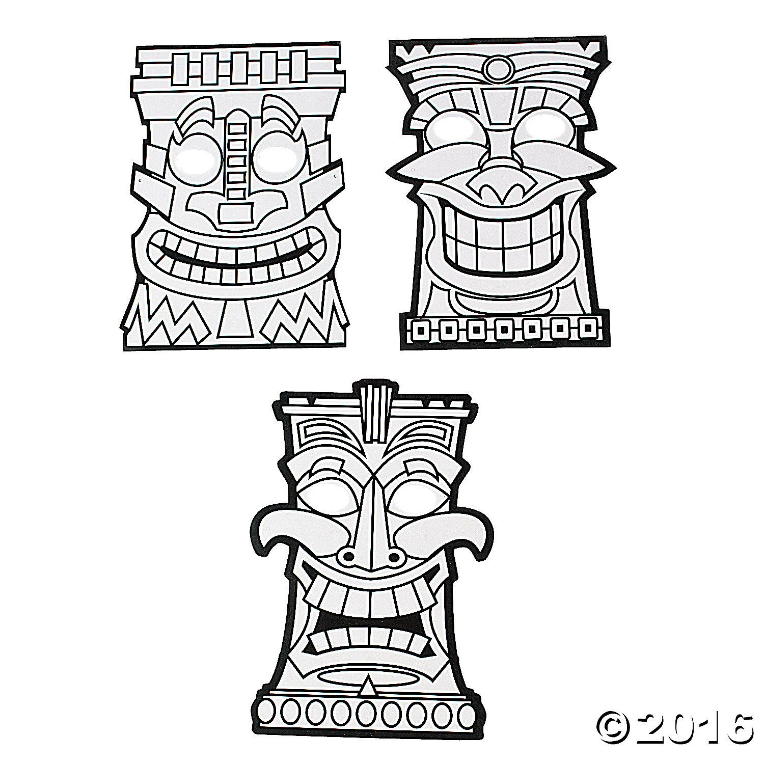 1500x1500 Tiki Mask Coloring Pages Tiki Coloring Pages Tiki