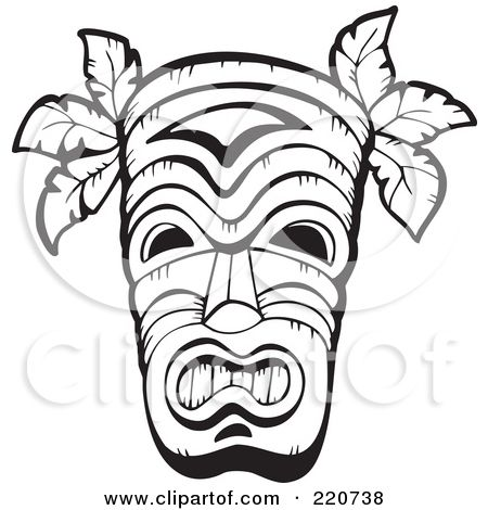 450x470 Tiki Mask Template Tiki Mask, Totems And Masking