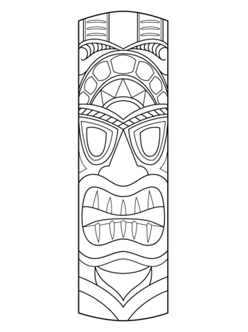 358x480 Tiki Mask Coloring Page From Masks Category Select