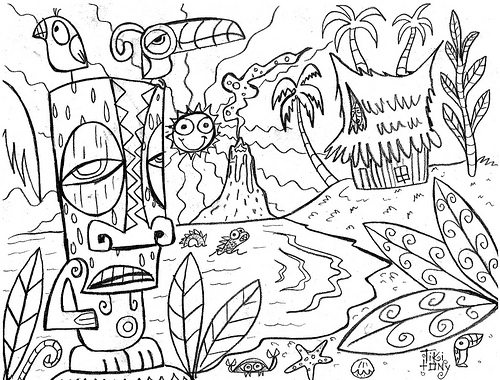 500x380 Luau Coloring Pages Luau Coloring Sheets Free