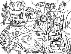 236x179 Adult Coloring Pages Tiki Tony Coloring Page Favorite Coloring