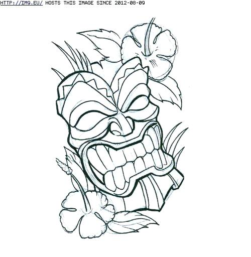 500x512 Tiki Mask Coloring Pages Mask Coloring Pages Mask Coloring Page