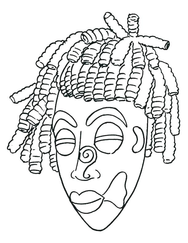 612x792 Mask Coloring Page Mask Coloring Pages Mask Coloring Page Mask