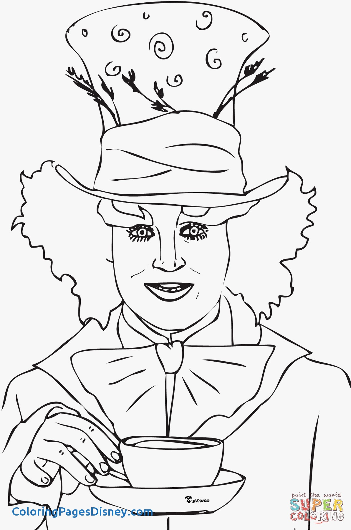 1192x1800 Tim Burton Coloring Pages Best Of Tim Burton Mad Hatter Drawing
