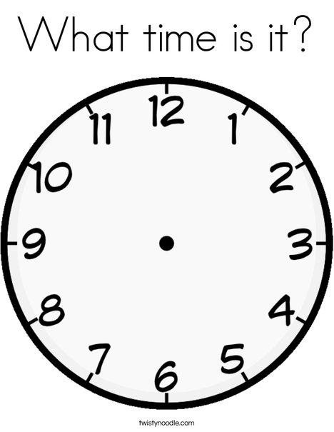 468x605 What Time Is It Coloring Page
