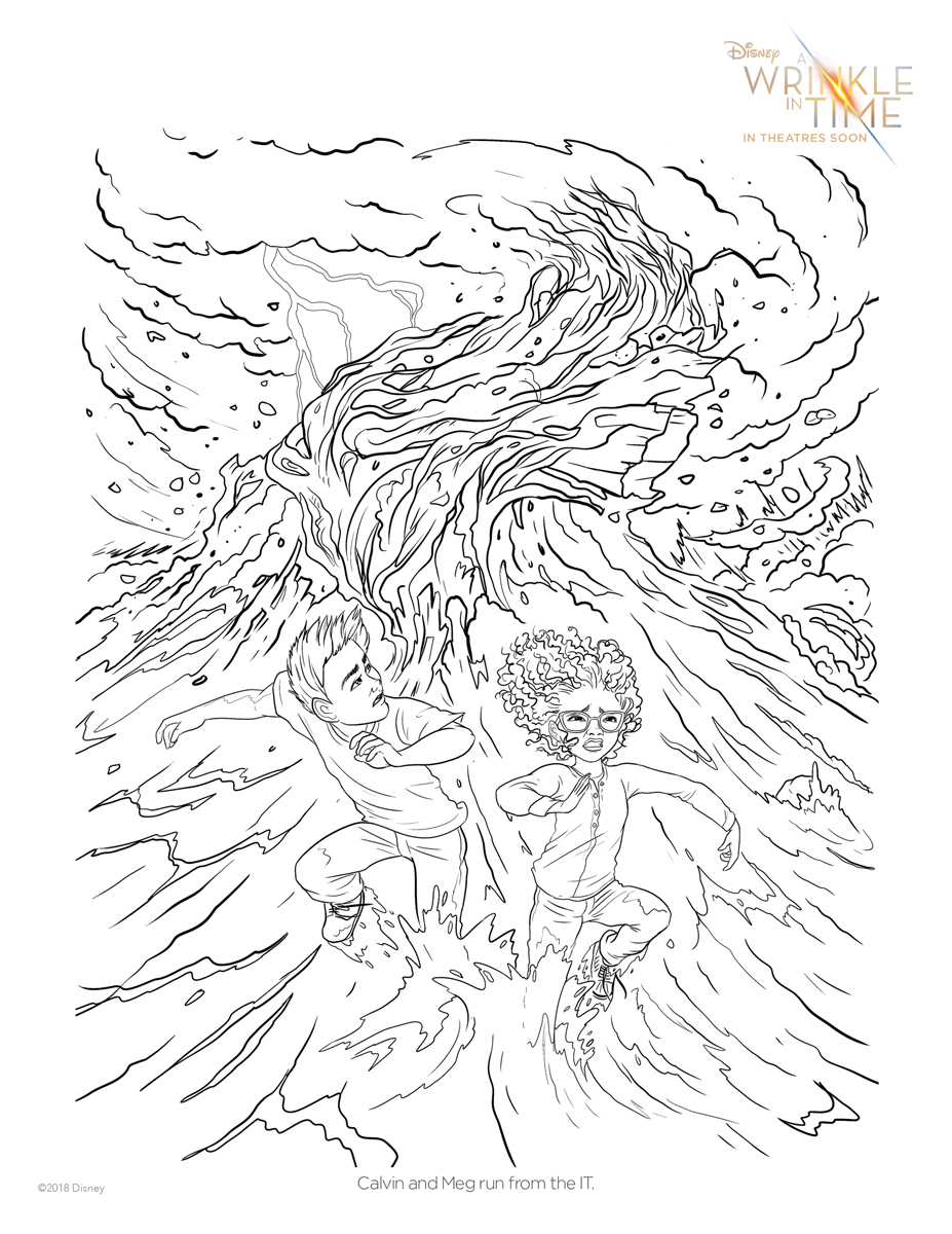 927x1200 Free A Wrinkle In Time Coloring Pages + Activity Sheets Let Kids