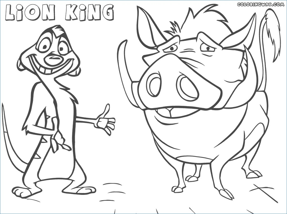 1000x746 Rafiki And Timon The Lion King Coloring Page