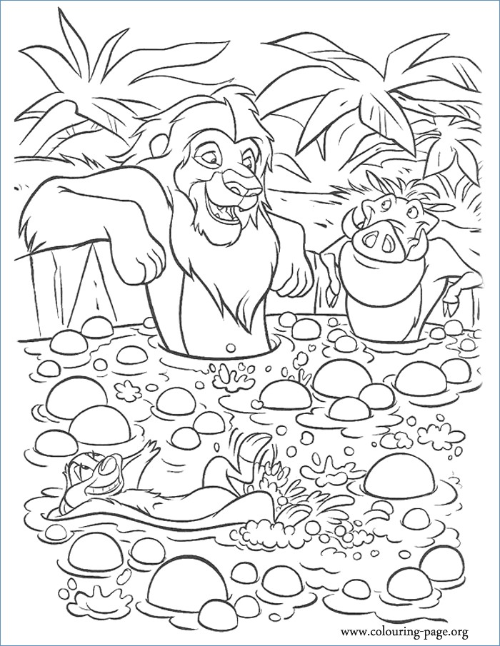 700x905 Timon Pumbaa And Zazu The Lion King Coloring Page