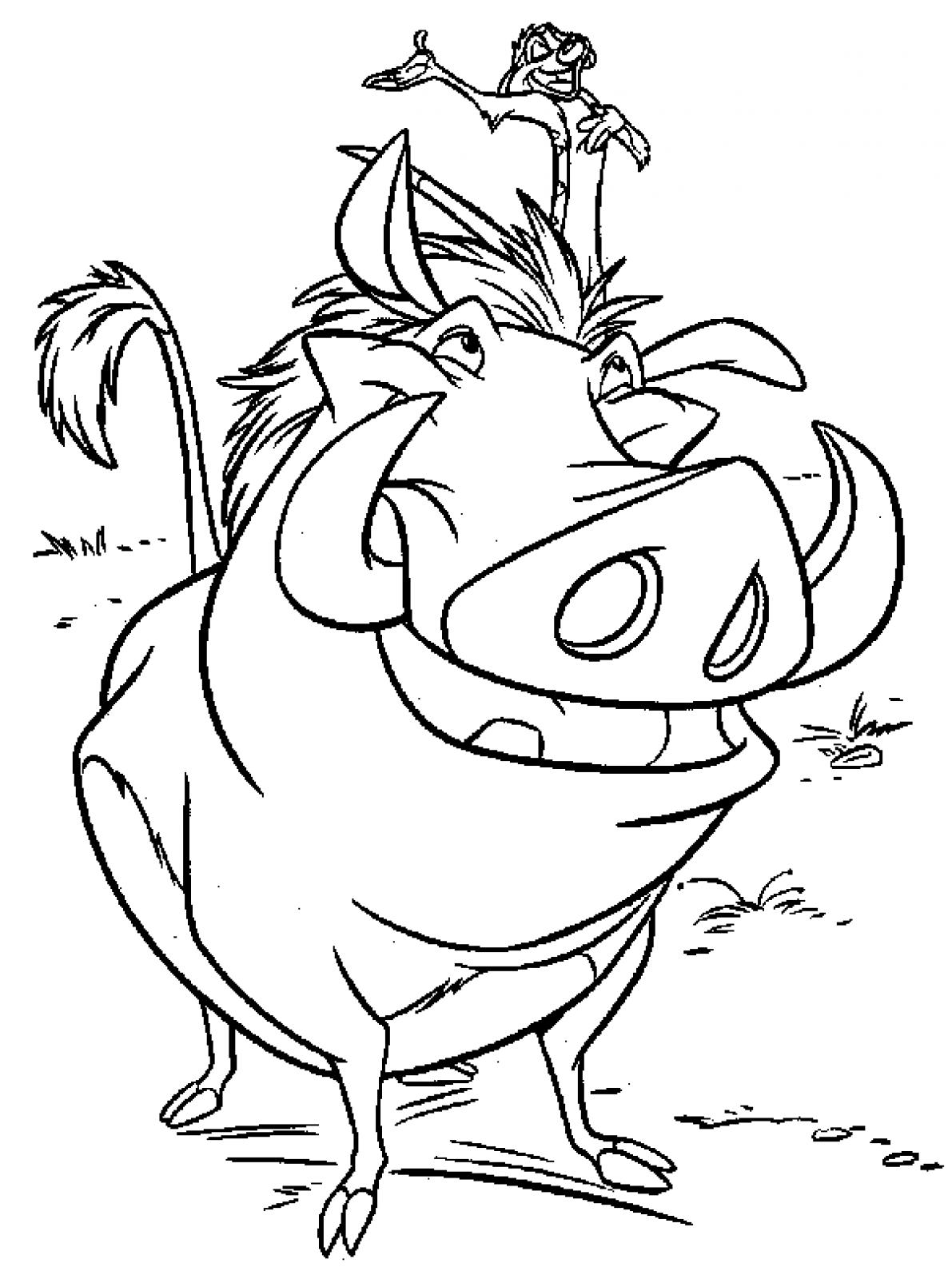 1191x1600 Lion King Timon And Pumbaa Coloring Pages