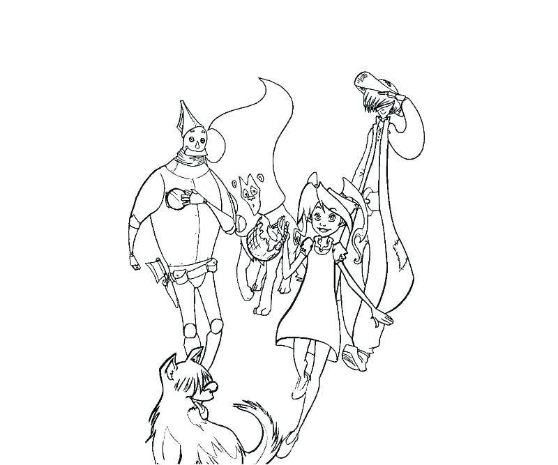 800x667 Coloring Pages Wizard Of Oz Wizard Oz Coloring Page Wizard Of Oz