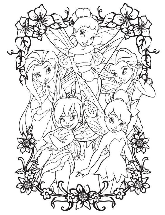 Tink Coloring Pages