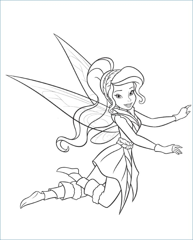 624x776 Fancy Disney Fairies Coloring Pages Rosetta Ornament