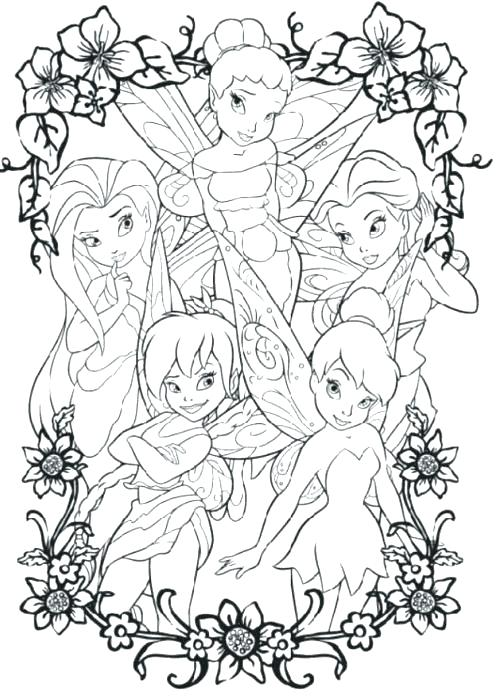 500x699 Tinkerbell Coloring Pages Free Coloring Pages Of Tinker Bell
