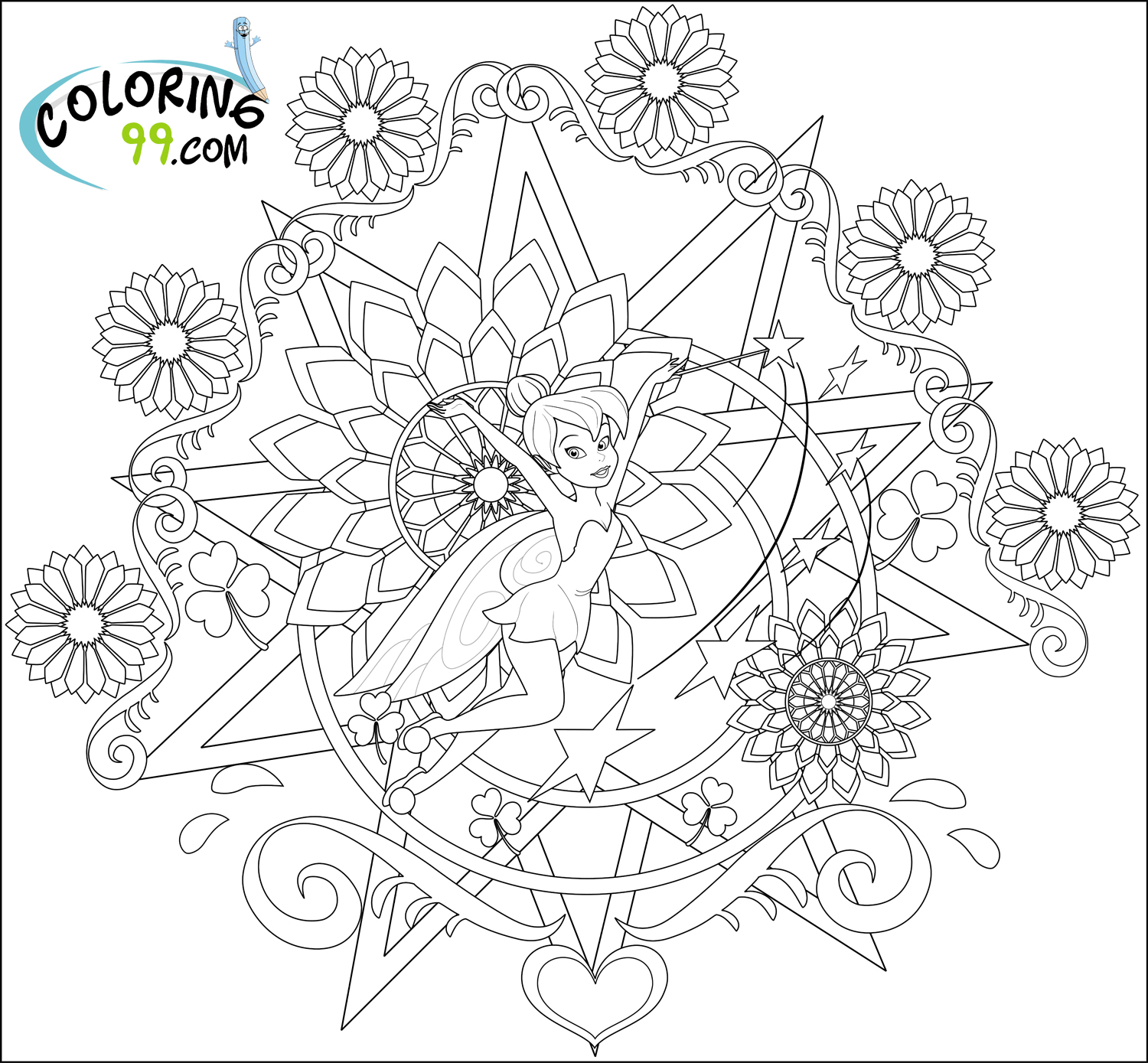 1500x1389 Tinkerbell Coloring Picture Coloring Page