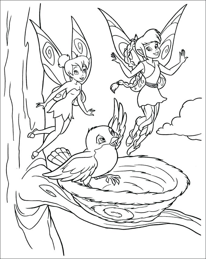 680x854 Free Printable Disney Tinkerbell Coloring Pages