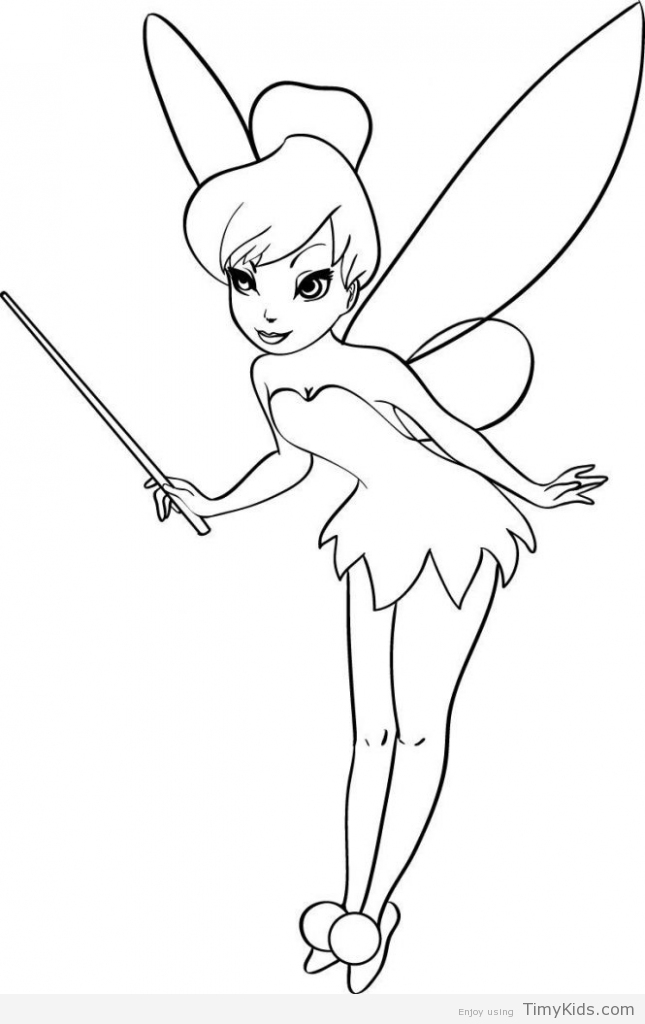 645x1024 Free Tinkerbell Coloring Pages Timykids