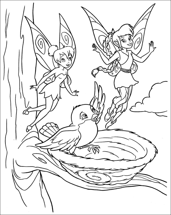 680x854 Tinkerbell Coloring Page Tinkerbell Coloring Pages Free