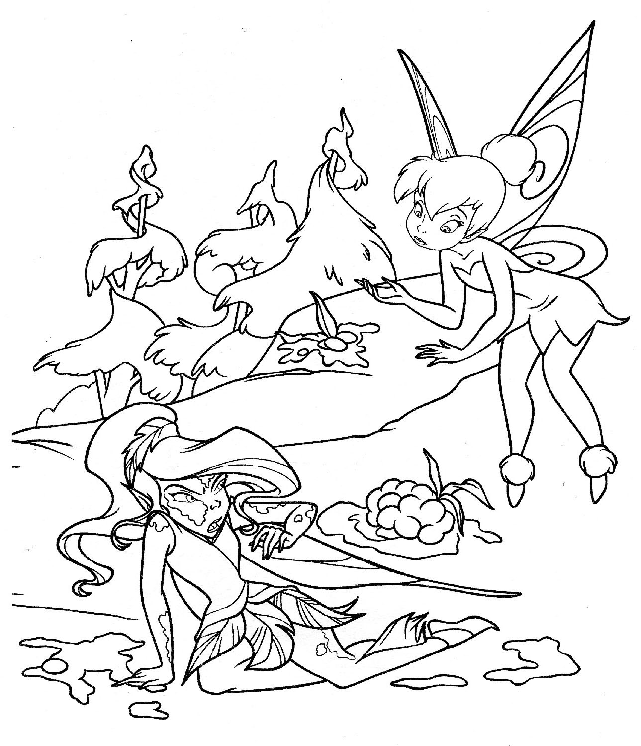 1289x1500 Free Printable Tinkerbell Coloring Pages For Kids