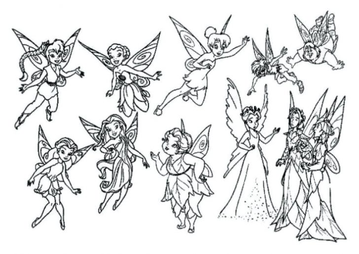 728x514 Tinkerbell And Friends Coloring Pages Pictures Free Printable