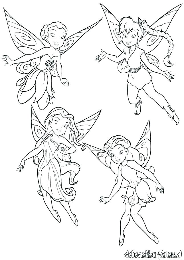 645x912 Tinkerbell Fairy Coloring Pages Coloring Pages Of And Her Fairy