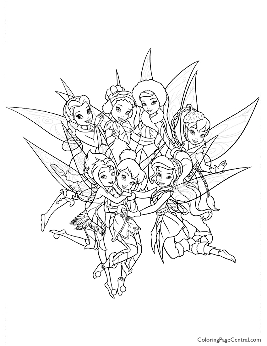 850x1100 Tinkerbell And Friends Coloring Page Coloring Page Central