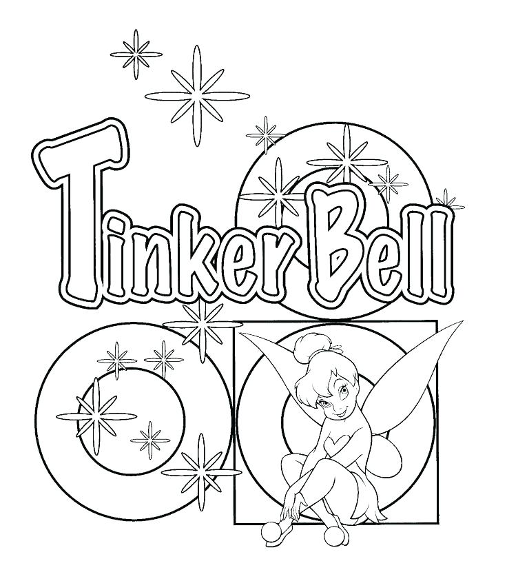 736x843 Free Tinkerbell Coloring Pages