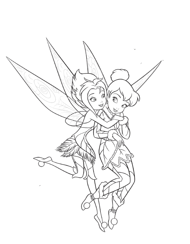 628x808 Coloring Pages Of Tinkerbell And Her Fairy Friends Big Huge