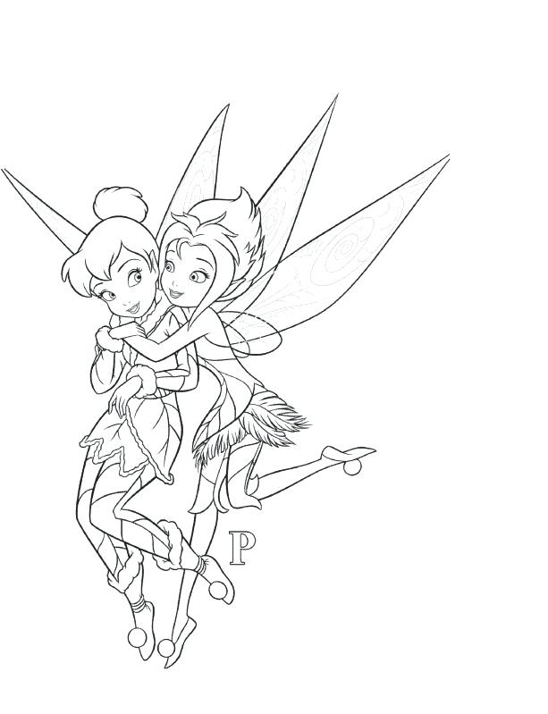 613x799 Tinkerbell And Periwinkle Coloring Pages Download Print For Free