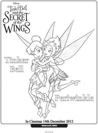 320x434 Tinkerbell And Periwinkle Colouring Page Birthday Fun