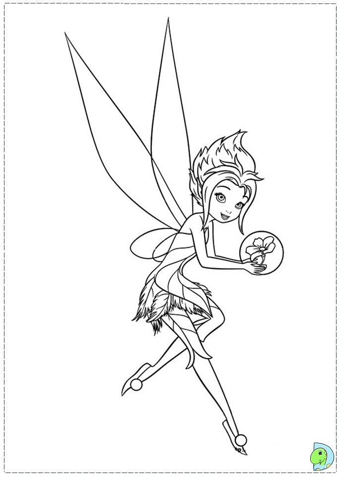 691x960 Coloring Pages Disney Fairies Periwinkle