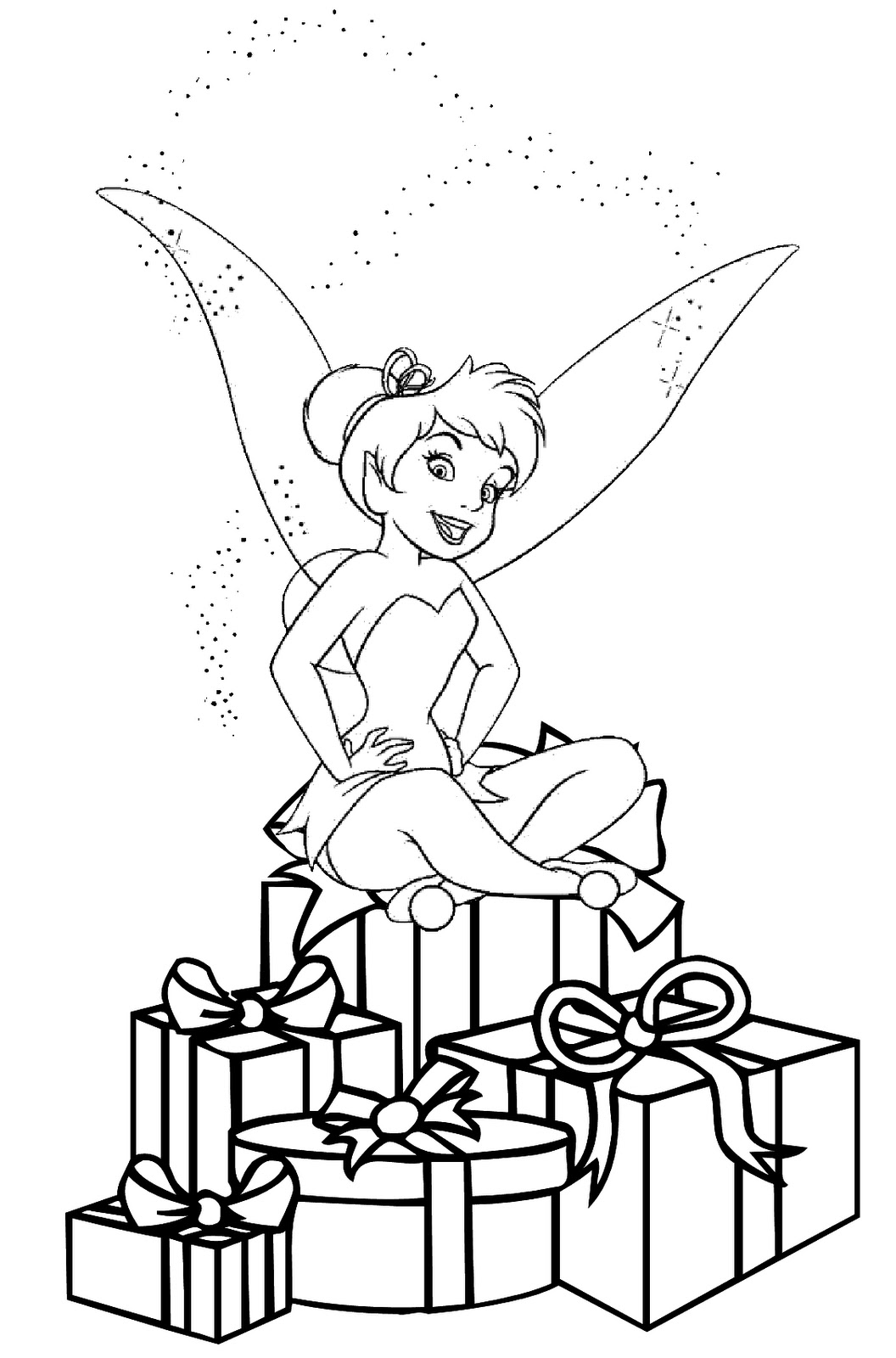 1056x1600 Christmas Coloring Pages Christmas Fairy Coloring Picture