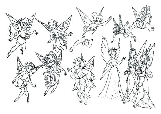 530x374 Printable Tinkerbell Coloring Pages