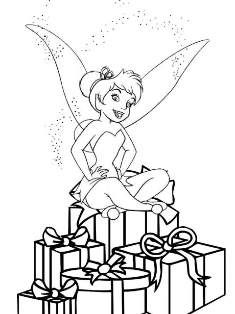 480x640 Tinkerbell Christmas Coloring Pages Timykids