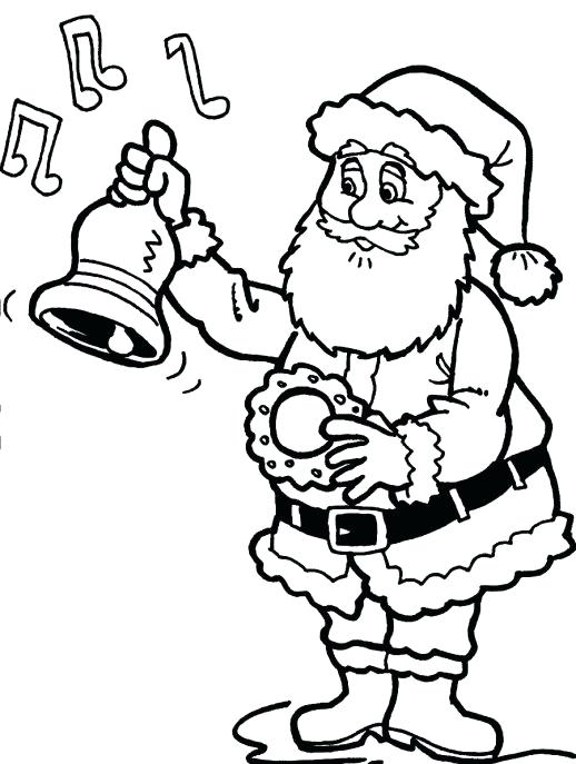 518x687 Christmas Bell Coloring Pages A Ringing The Bell As The Sign