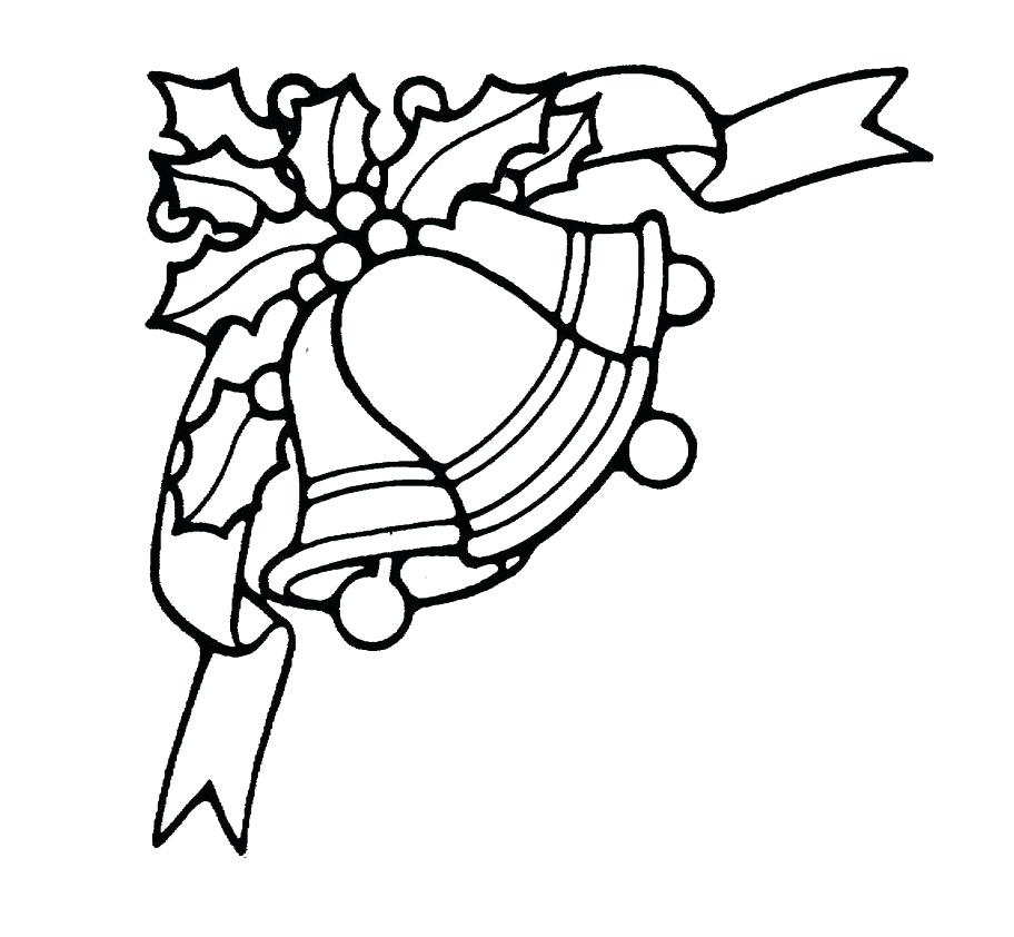 912x842 Christmas Bells Coloring Pages Also Bell Coloring Page Tinkerbell