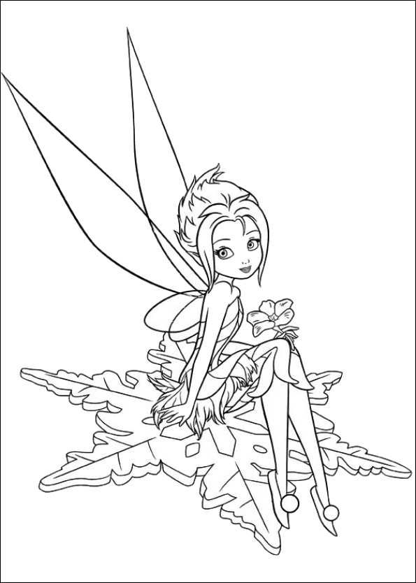 595x834 Coloring Pages Tinkerbell
