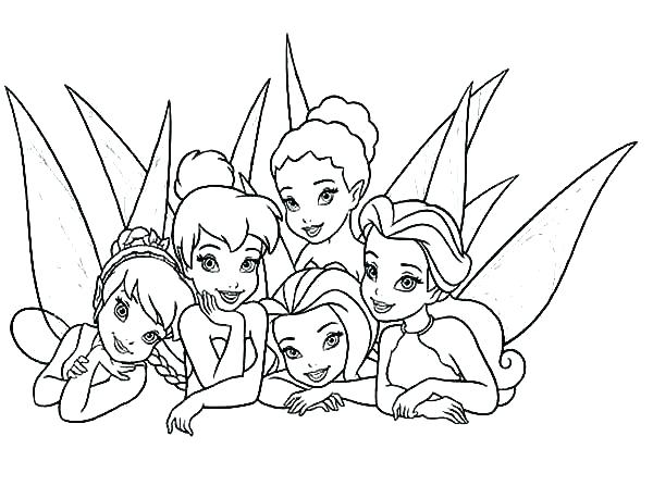 Tinkerbell Coloring Pages Disney at GetDrawings.com | Free ...