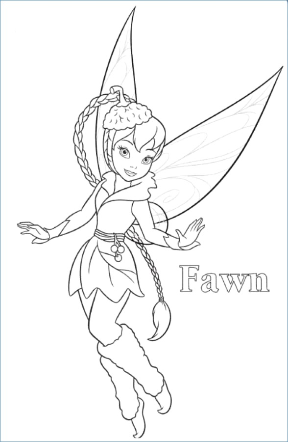 588x900 Tinkerbell Coloring Pages Disney