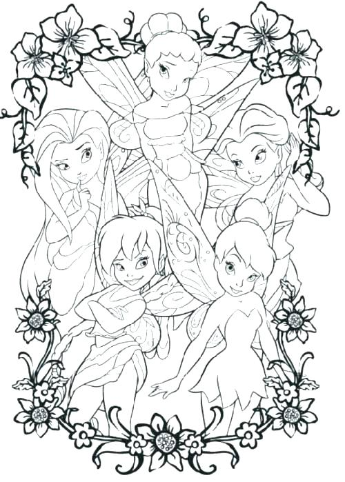500x699 Tinkerbell Coloring Pages