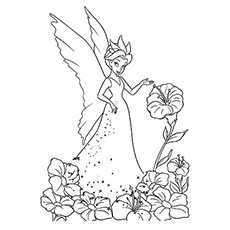 Tinkerbell Face Coloring Pages at GetDrawings.com | Free for ...