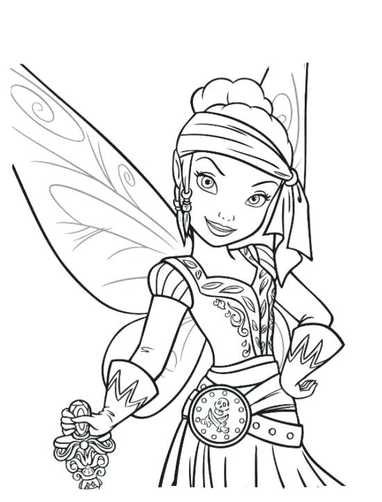 550x722 Disney Tinkerbell Fairies Coloring Pages Printable The Pirate