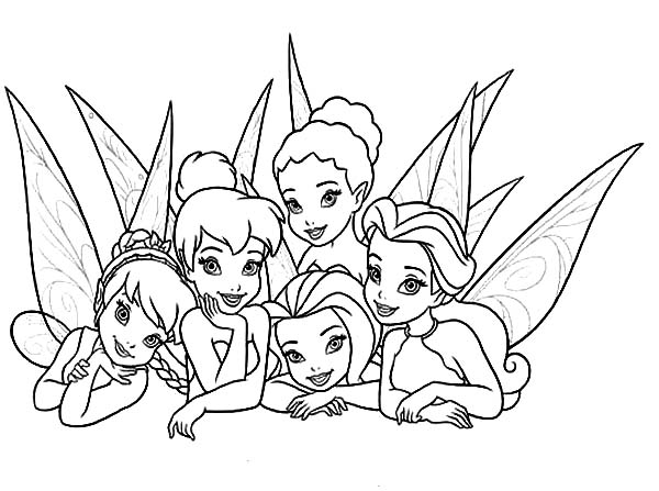 Tinkerbell Fairies Coloring Pages at GetDrawings.com | Free ...
