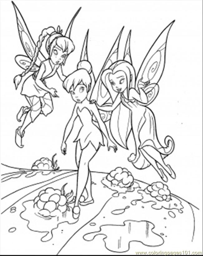 650x821 Teaching Tinkerbell Coloring Page