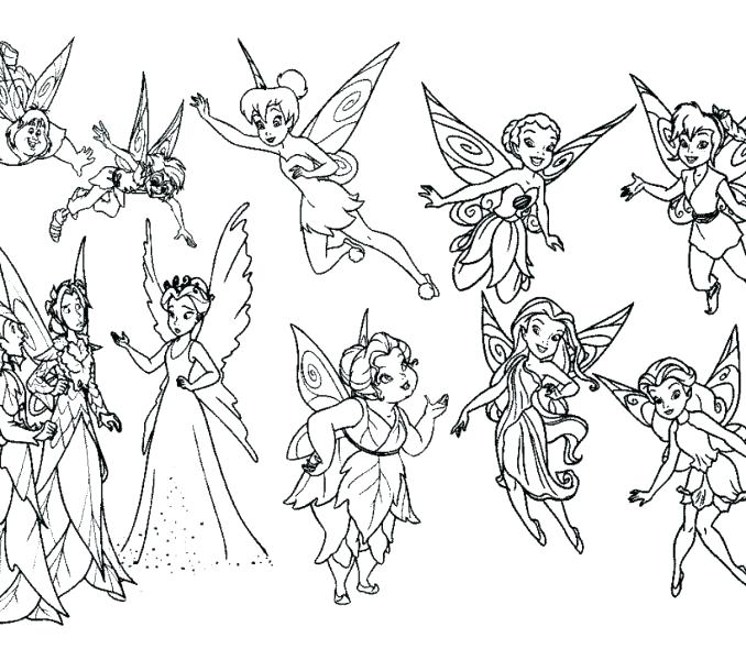 678x600 Tinkerbell Fairies Coloring Pages Best Ideas About Fairy Coloring