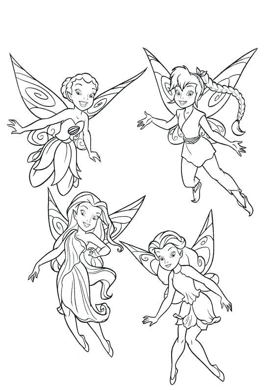 567x794 Tinkerbell Fairies Coloring Pages Coloring Pages Fairies