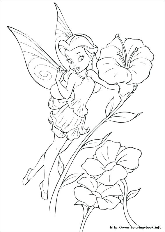 567x794 Tinkerbell Fairies Coloring Pages Coloring Pages Fairies Coloring