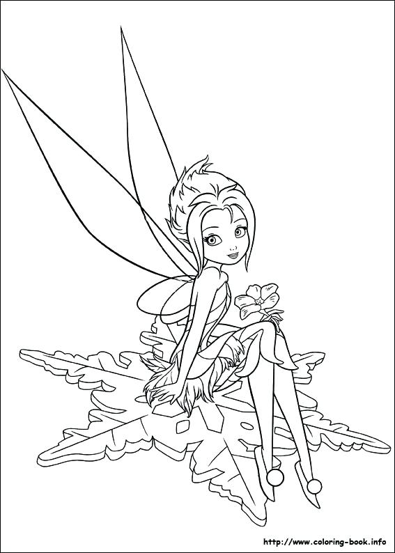 567x794 Tinkerbell Fairies Coloring Pages Drawn Fairy Coloring Book
