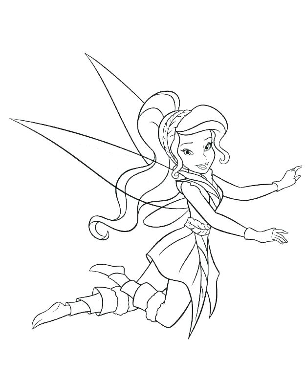 624x776 Tinkerbell Fairy Coloring Pages Teleks Site