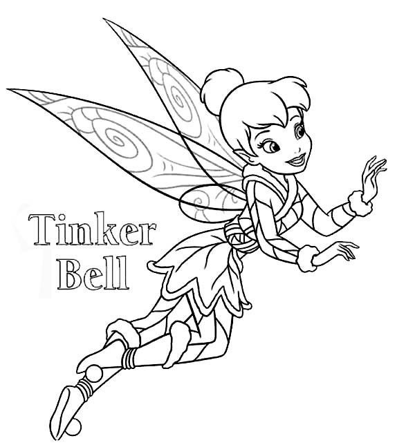 600x644 Disney Fairies Tinkerbell Coloring Page